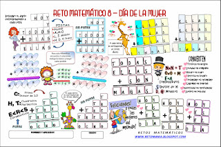 Alfamética, Criptoaritmética, Criptosuma, Juego de letras, Día de la mujer, Problemas de lógica, Retos matemáticos, Desafíos matemáticos, Problemas matemáticos, Problemas matemáticos con letras, Problemas de pensar