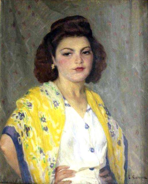 Retrato de una muchacha, Laureano Barrau Buñol, Pintor Catalán, Pintor español, Cuadros de Laureano Barrau Buñol, Barrau Buñol, Laureano Barrau