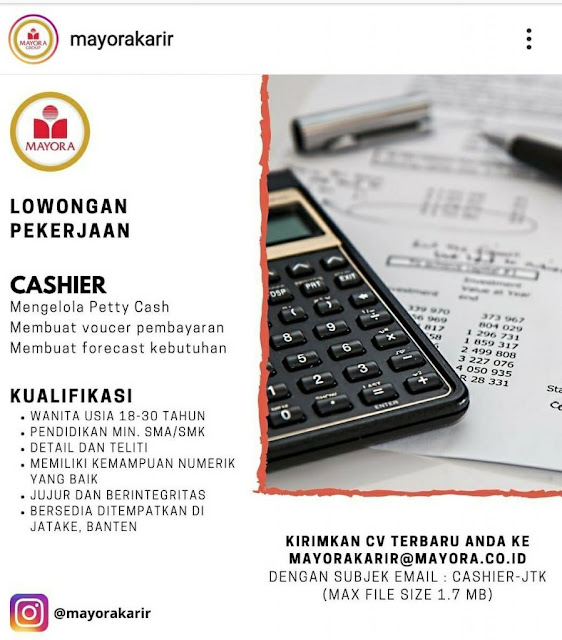 Cari Loker Di Tangerang, PT Mayora Indah Tbk Buka Lowongan Untuk Bulan Juni 2020