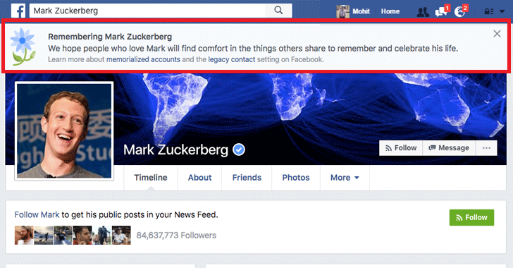 Facebook Bug Declares Millions of Users Dead, Including Zuckerberg!