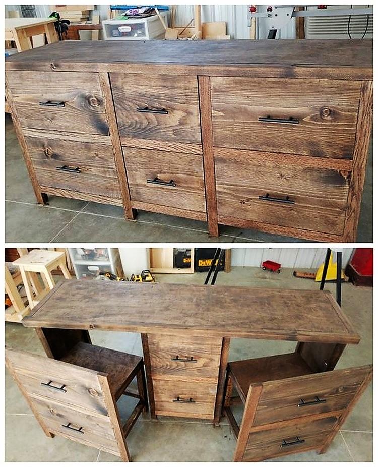 Diy reclaimed pallet wood furniture ideas pallets platform for Pallet furniture blogspot com