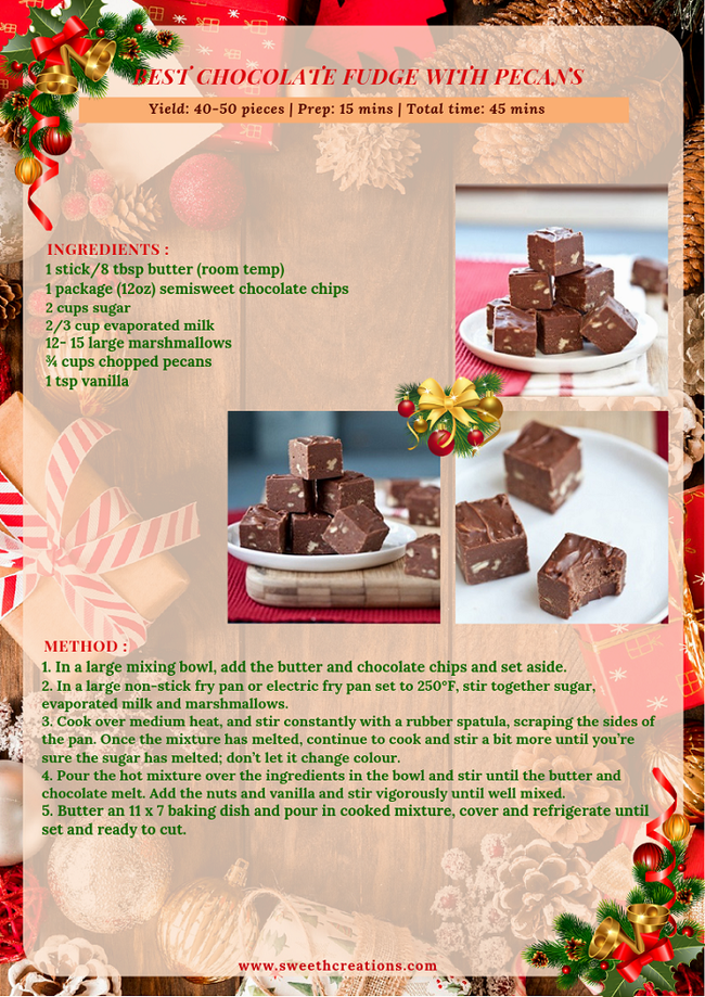BEST CHOCOLATE FUDGE WITH PECANS RECIPE