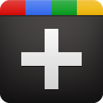 Rainbow and black Plus Sign for Google Plus