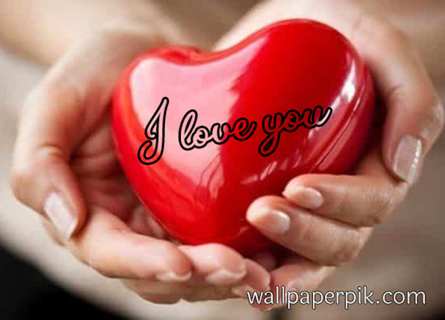 heart in hand i love you image