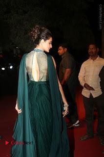 Actress Pragya Jaiswal Stills in Green Long Dress at Gemini TV Puraskaralu 2016 Event  0018.JPG