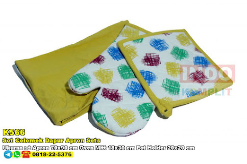 Set Celemek Dapur Apron Sets