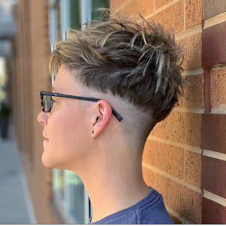 Pixie With Shaved Undercut And Choppy Top