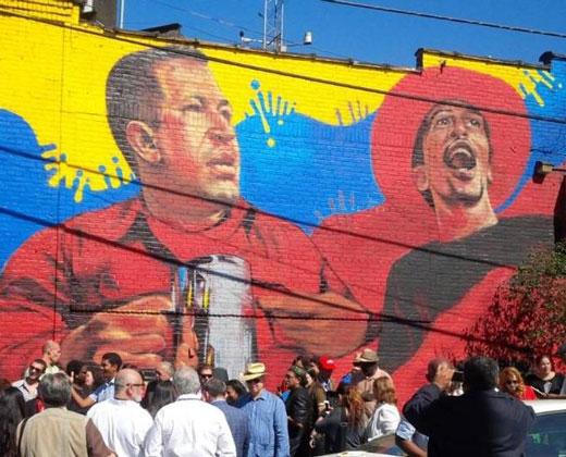 Inauguran mural de Chávez en el Bronx de Nueva York