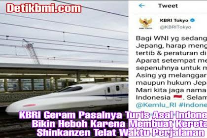 KBRI Geram Pasalnya Turis Asal Indonesia Bikin Heboh Karena Membuat Kereta Shinkanzen Telat Waktu Perjalanan