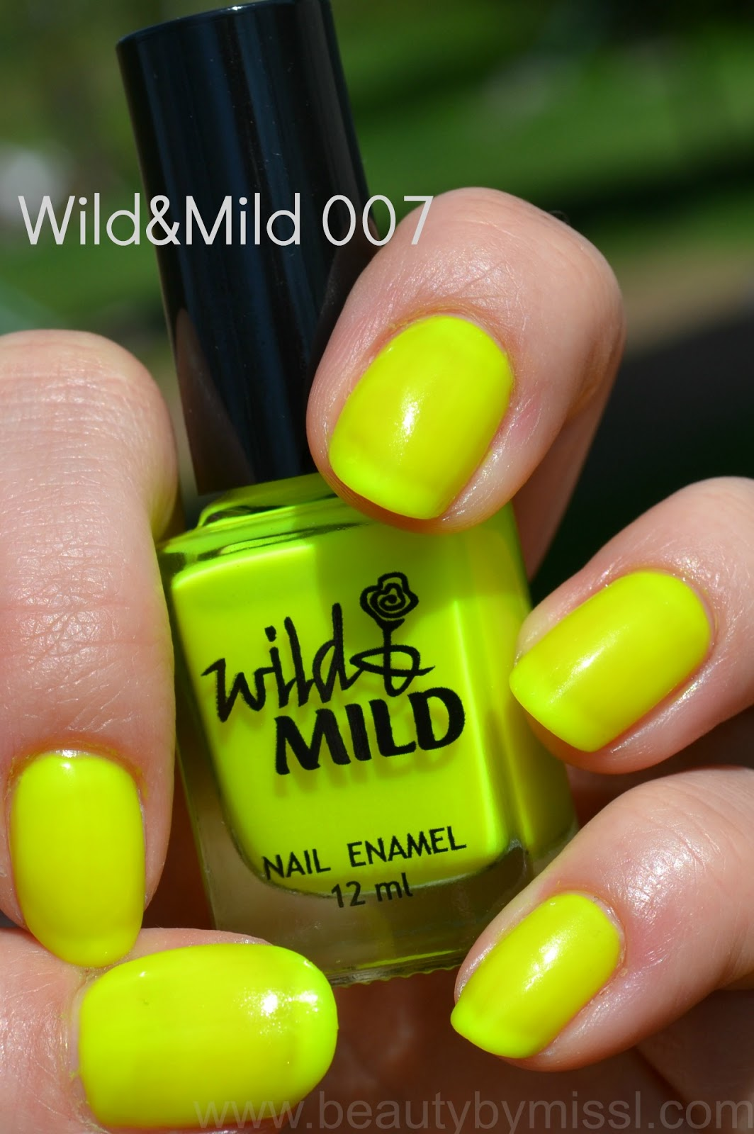 bright neon yellow