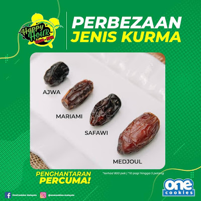 Perbezaan jenis Kurma Asjwa saiz AA, Mariami, Safawi dan Medjoul