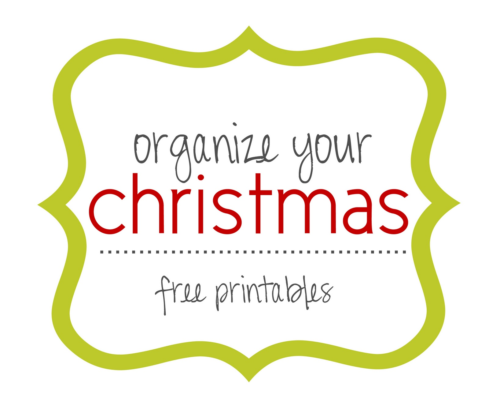 Lovely Little Snippets Organize Your Christmas Free Printables