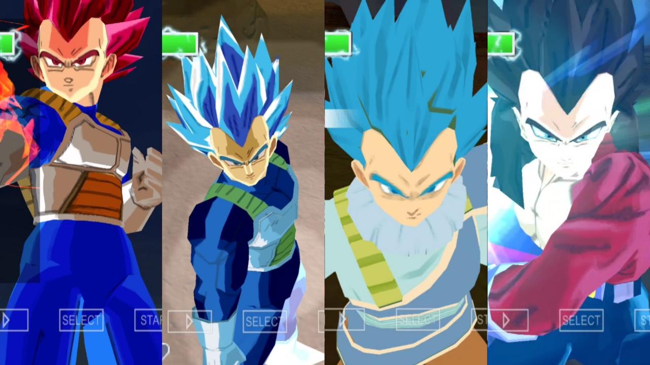 Dragon Ball z Vegeta all forms