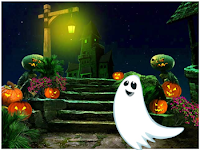 MirchiGames Green Halloween Ghost Escape