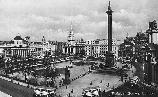 Vintage Photographs Of Trafalgar Square From Between 1900s And 1940s Vintage Everyday