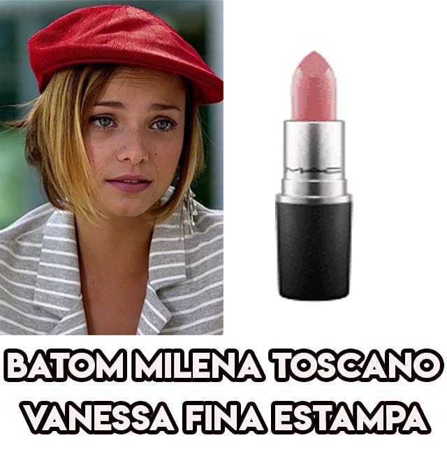 O batom da Milena Toscano, a Vanessa em Fina Estampa