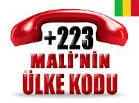 +223 Mali ülke telefon kodu