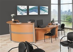 Cuved Reception Desk