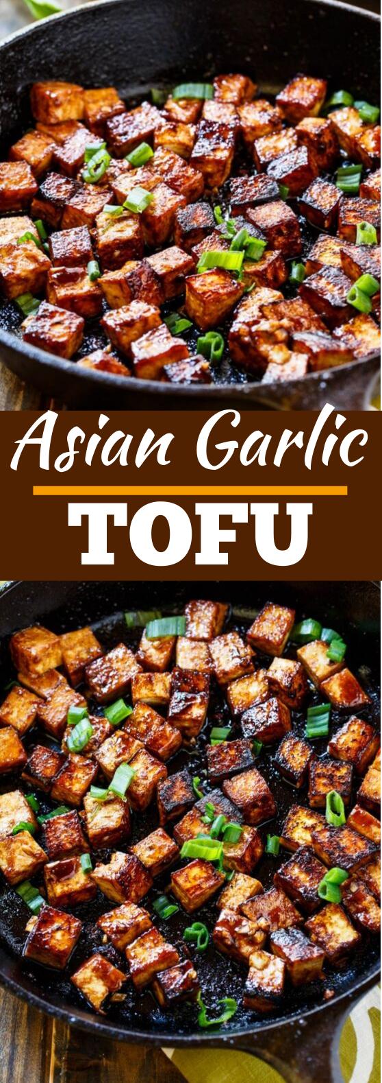Asian Garlic Tofu #vegan #dinner