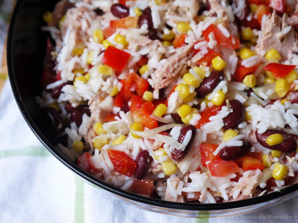 la cuisine de myrtille salade de riz aux haricots rouges et au thon. Black Bedroom Furniture Sets. Home Design Ideas