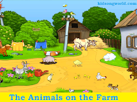 The Animals on the Farm - Kids Song
