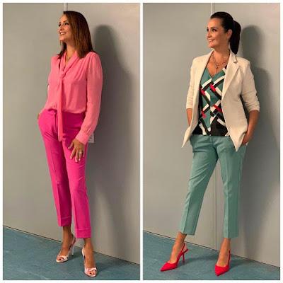 foto outfit Roberta Capua conduttrice TV settembre 2021