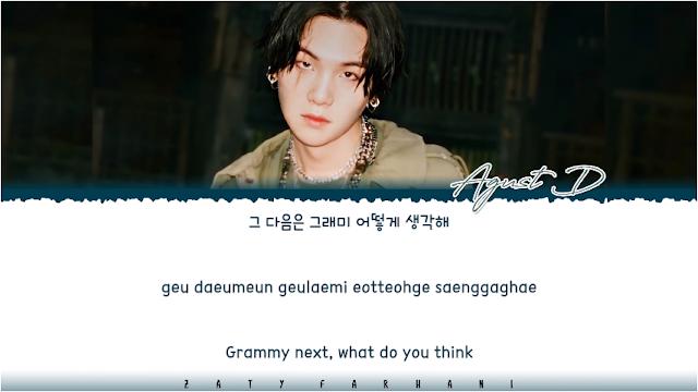 BTS Suga Lyrics What do you think