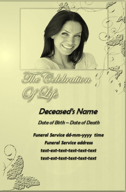 Free Funeral Program Templates Download - Google+ - program for a funeral