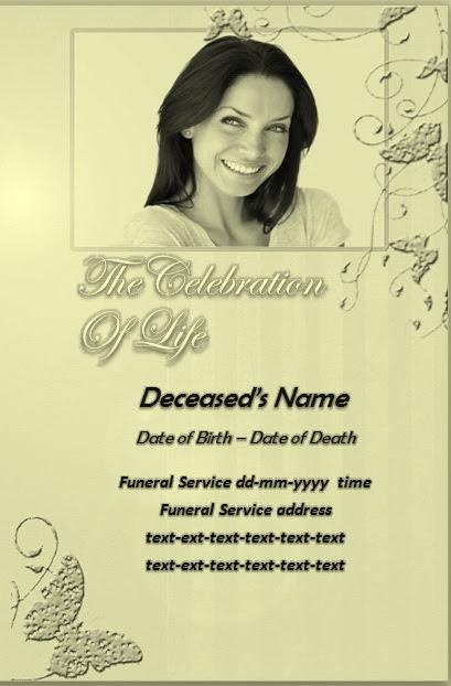 Free Funeral Program Templates Download - Google+