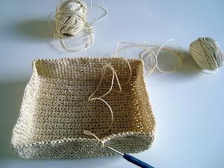 Korb Häkeln Paketschnur Luftmaschen Häkeln Netz
