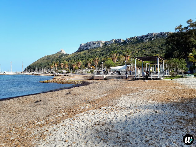 Poetto beach and Sella del Diavolo, Cagliari | Sardinia, Italy | wayamaya