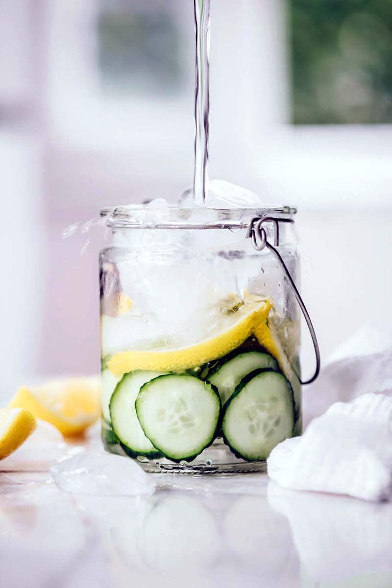 Collagen-Building Cucumber Spa Water