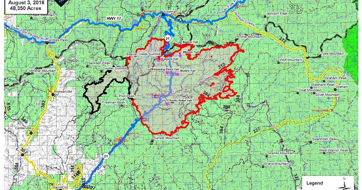 Pioneer Mountains Idaho Map.Idaho Fire Information Pioneer Fire Press Release Tuesday August 3