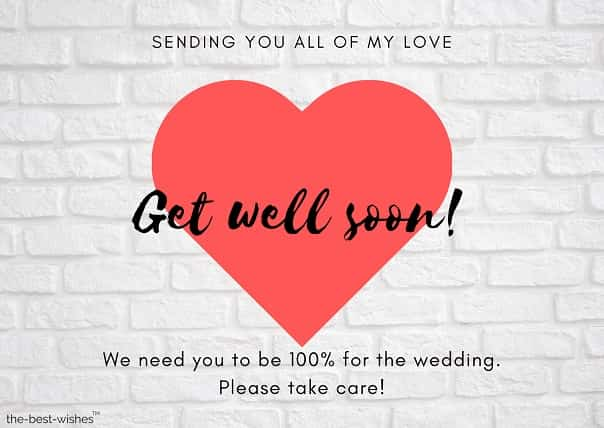 get well soon messages before married fall sick