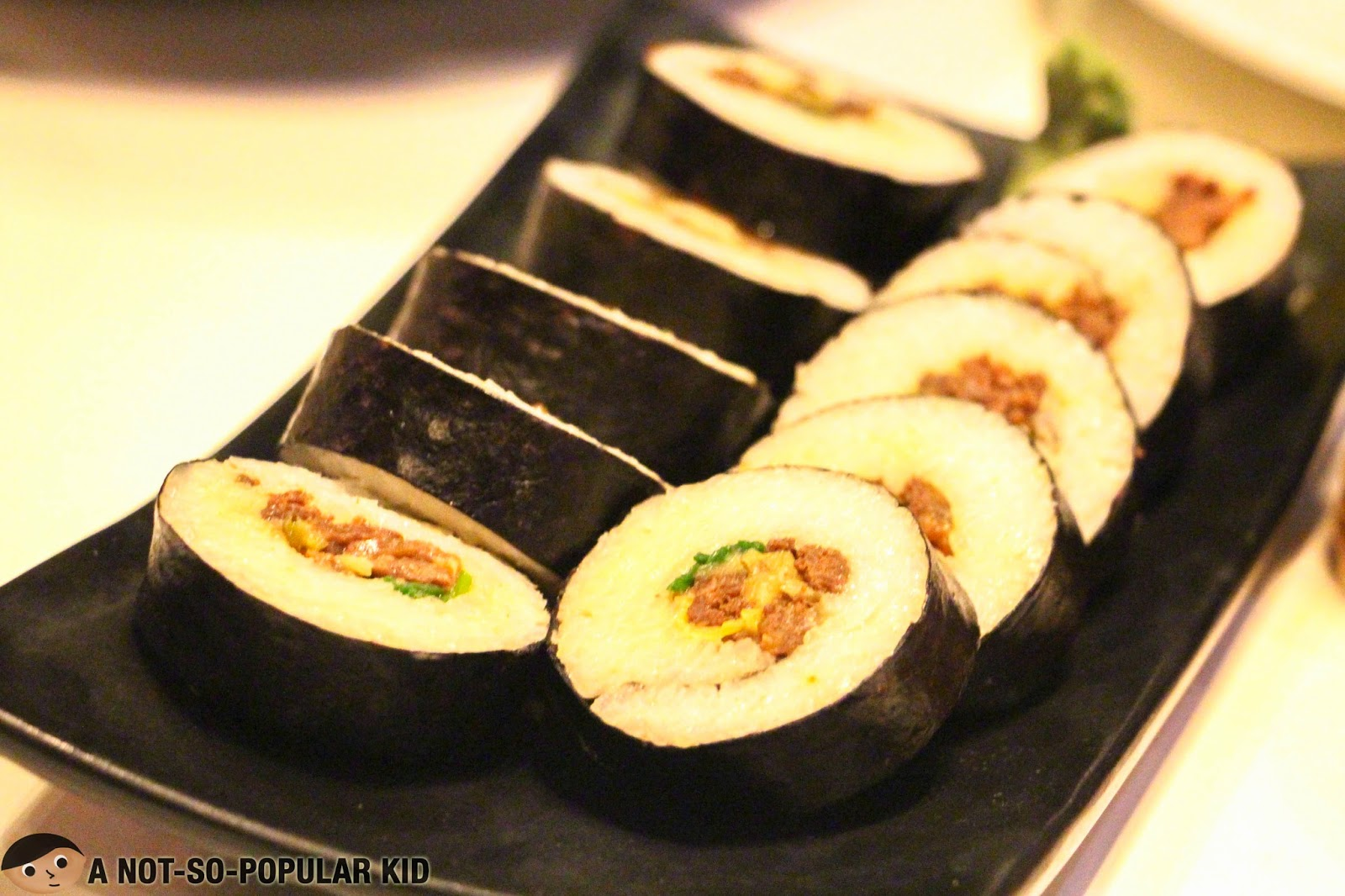 Bulgogi Kimbap for appetizer in Chef's Noodle Restaurant