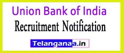 Union Bank of India UBI Recruitment Notification