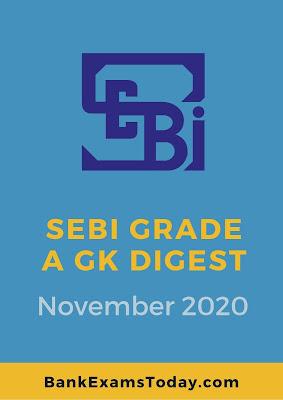 SEBI Grade A GK Digest: November 2020
