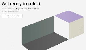 サムスン電子、8月11日に新製品発表会「Galaxy Unpacked」を開催へ。副題は「Get Ready to unfold」