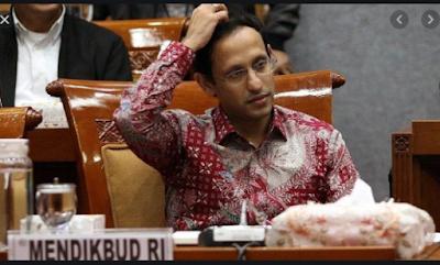 Nilai Rapor Kinerja Mendikbud Nadiem Anwar Karim Merah