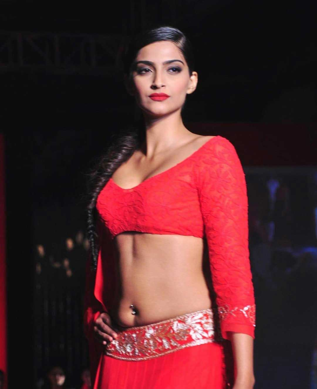 Sonam Kapoor Hot Pierced Navel