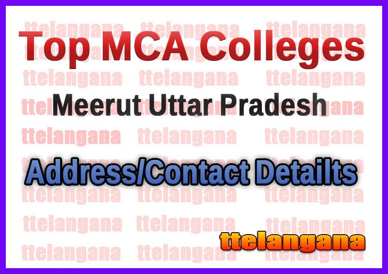 Top MCA Colleges in Meerut Uttar Pradesh