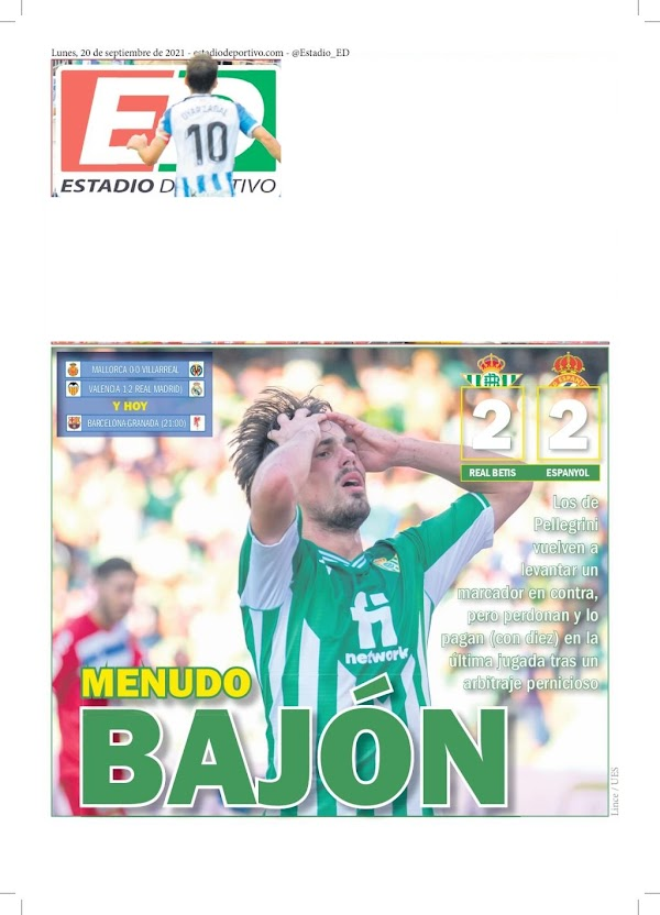 """Betis, Estadio Deportivo: """"Menudo bajón"""""""