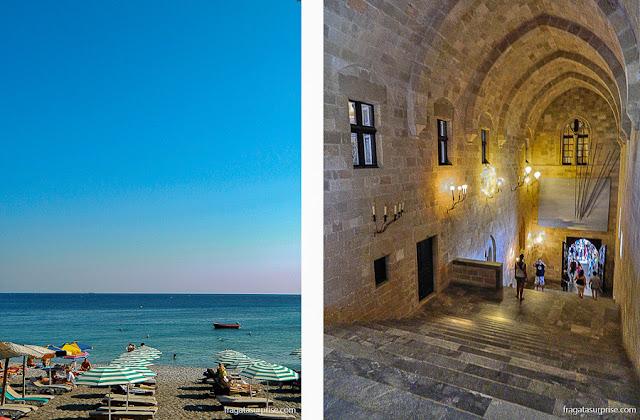 Rodes, Grácia: Praia de Elli e o Palácio do Grão-Mestre da Ordem dos Cavaleiros