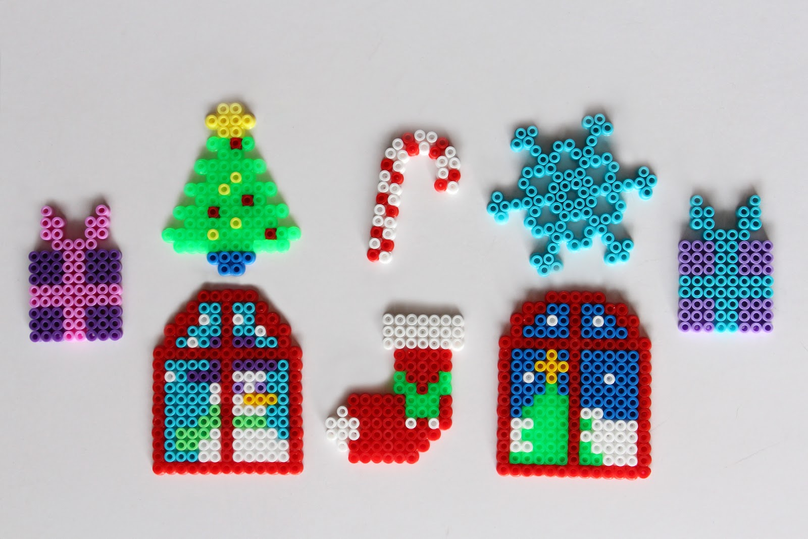 Hacer Felicitaciones De Navidad Por Internet.Mardefiesta Tarjetas De Navidad Con Hama Beads