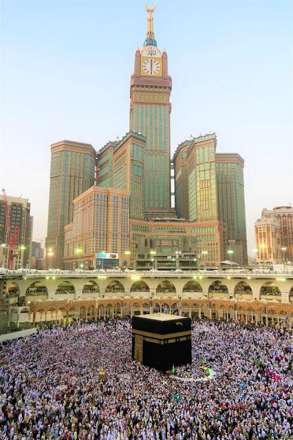 Foto Ka'bah di kota suci Mekkah