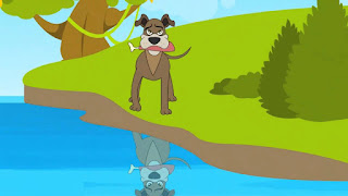 قصه الكلب الجشع قصة للاطفال