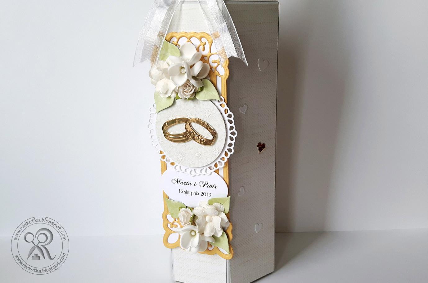 Ręcznie robione pudełko na wino