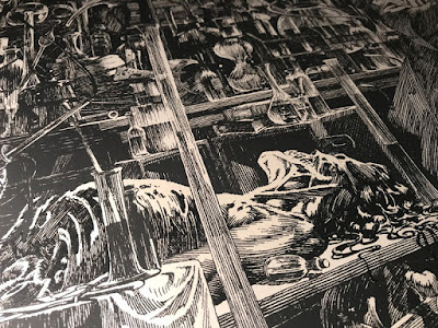"""""""…And I Shall Be With You On Your Wedding Night."""" Screen Print by Bernie Wrightson x Nakatomi"""