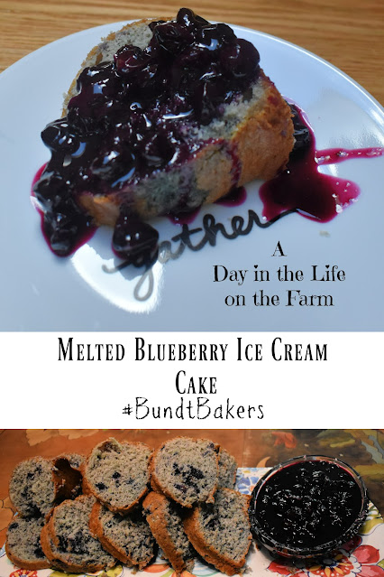 Melted Blueberry Ice Cream Cake pin