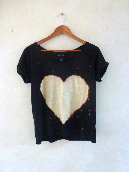 Blusa DIY con corazón
